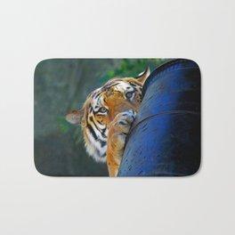 Playful Amur Tiger Bath Mat