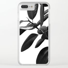 Ficus Elastica Black & White Vibes #1 #foliage #decor #art #society6 Clear iPhone Case