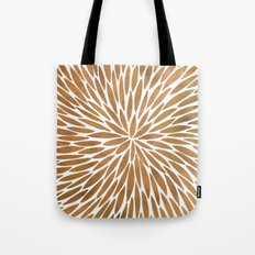Rose Gold Burst Tote Bag