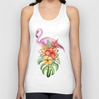 flamingo Tank Tops featuring Flamingo by Julia Badeeva