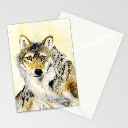Totem Grey wolf Stationery Cards