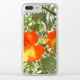 Loving Flowers Clear iPhone Case
