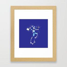 Mega Man X Splattery Design Framed Art Print