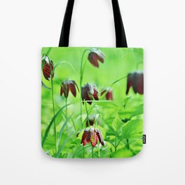 Chequered lily Fritillaria Meleagris Tote Bag