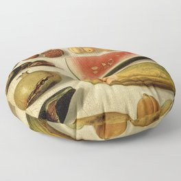Still Life with Fruit (with Scorpion and Frog) Floor Pillow