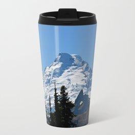 Snow Cap on the Mountain Travel Mug