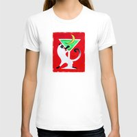 martini T-shirts featuring Moon Martini by Gem S Visionary