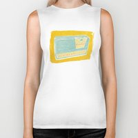 transistor Biker Tanks featuring Radio II by Brooke Elizabeth