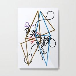 Sophie Taeuber-Arp - Octahedron-ss - Digital Remastered Edition Metal Print