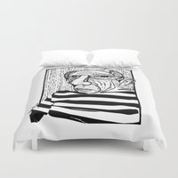 pablo picasso Duvet Covers featuring Pablo Picasso by Benson Koo