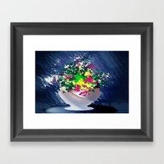Ton und Blumen. Stilleben. Framed Art Print