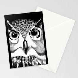 mysterious owl Stationery Cards