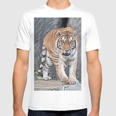 I'm watching you MEDIUM Mens Fitted Tee White