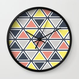 Colorful triangles decoration Wall Clock