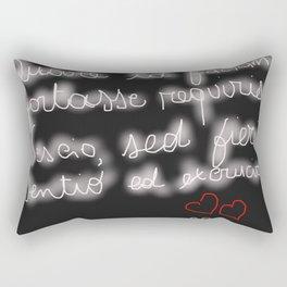 Latin Poetry Rectangular Pillow