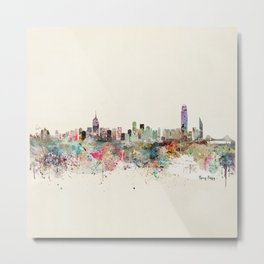 hong kong city skyline Metal Print