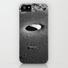 Apollo 10 - Moltke Moon Crater iPhone Case