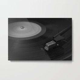 Vinyl Spins Metal Print