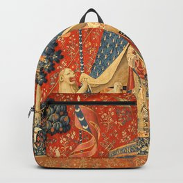 Lady and The Unicorn Medieval Tapestry Backpack