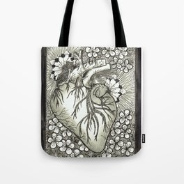 The Anatomical Heart- Organs and Herbs series Tote Bag