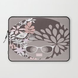 Afro Diva : Sophisticated Lady Pale Pink Peach Beige Laptop Sleeve