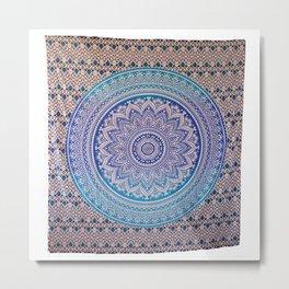 Indian Mandala design Tapestry Metal Print