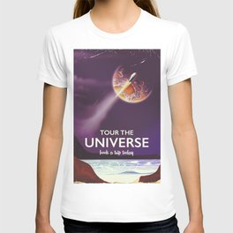 Tour the universe space travel poster T-shirt
