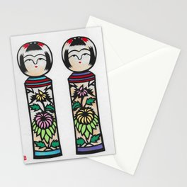 Kokeshi girls Stationery Cards