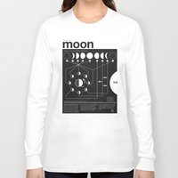dark Long Sleeve T-shirts featuring Phases of the Moon infographic by Nick Wiinikka