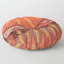 Mauna Kea Hawaiian Sun Tribal Print Floor Pillow