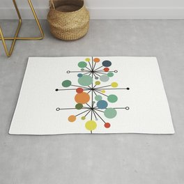 Atomic Age Nuclear Abstract Motif — Mid Century Modern Pattern Rug