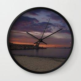 Front Beach After sunset Wall Clock