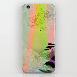 Abstract landscape sweep neon iPhone Skin