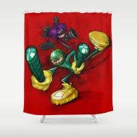 ass Shower Curtains featuring KICK-ASS by alexviveros.net