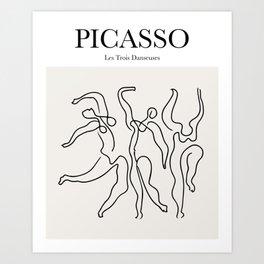 Picasso - Les Trois Danseuses Art Print