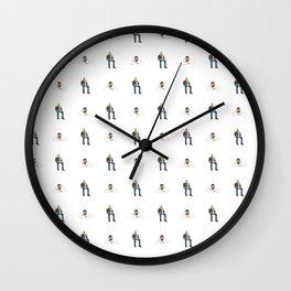 Drake Views Pattern Wall Clock