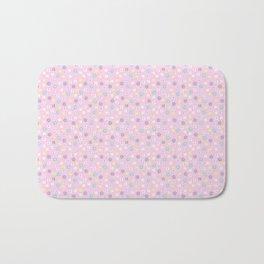 Pink blush yellow teal abstract modern floral Bath Mat