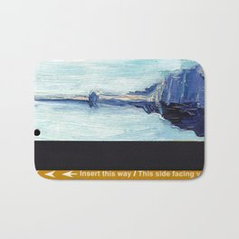 Subway Card Empire State Building No. 1 Bath Mat