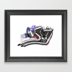 Harley engine Framed Art Print