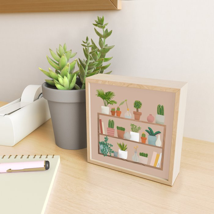 Plant Mama Shelfie Framed Mini Art Print