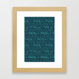 brocade indigo blue Framed Art Print
