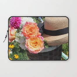 Roses, Straw Hat and Bicycle Laptop Sleeve