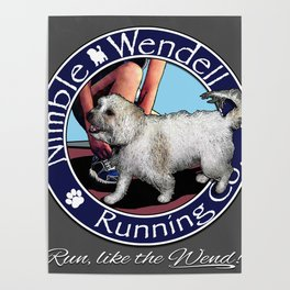 Nimble Wendell Running Co. (Painterly Logo) Poster