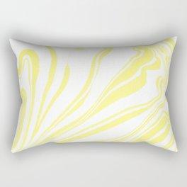 Yellow Marble Ink Watercolor Rectangular Pillow