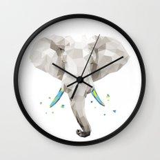 Geosafari | Elephant (White) Wall Clock
