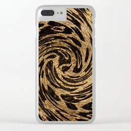 Animal Print Leopard Clear iPhone Case
