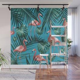 Tropical Flamingo Pattern #8 #tropical #decor #art #society6 Wall Mural