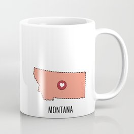 Montana State Heart Coffee Mug