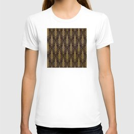 Glam Gold Art Deco Ornate Pattern T-shirt
