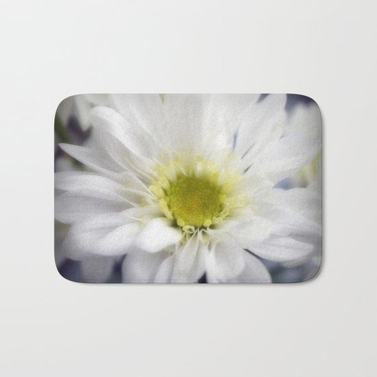 Flower   Flowers   Daisy with Yellow Centre Bath Mat
